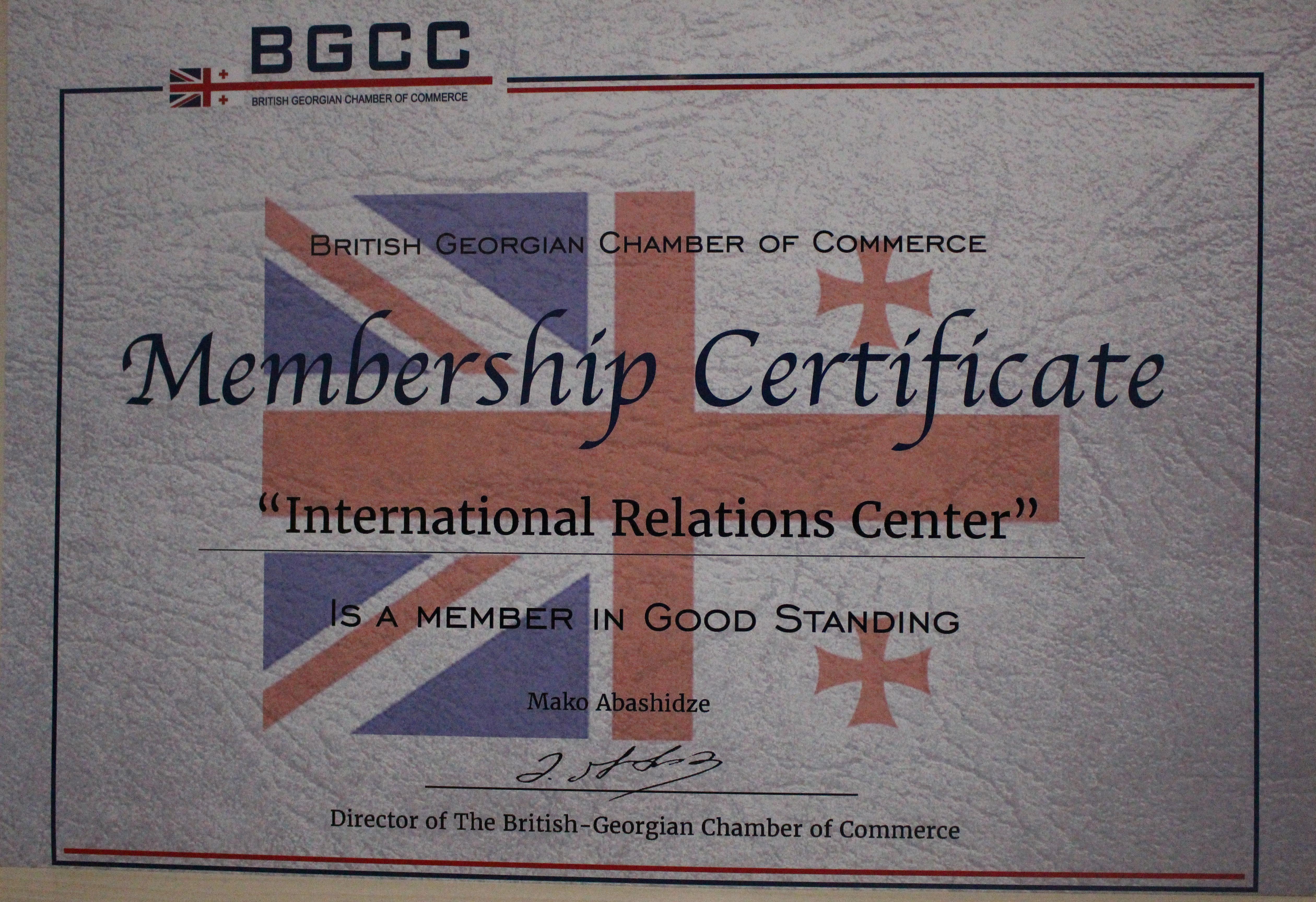 IRC BGCC-ის წევრი და ექსკლუზიური პარტნიორია